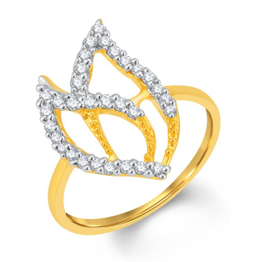 Buy Pissara Sublime Gold and Rhodium Plated Cubic Zirconia Ring Online