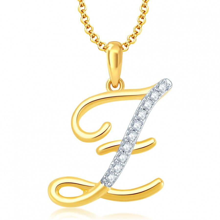 Pissara letter z gold and rhodium plated cz alphabet pendantbest buy pissara letter z gold and rhodium plated cz alphabet pendant online mozeypictures Images