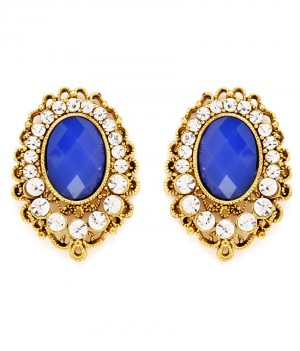 Buy Sukkhi Ravishing Gold Plated AD Earring For Women Online