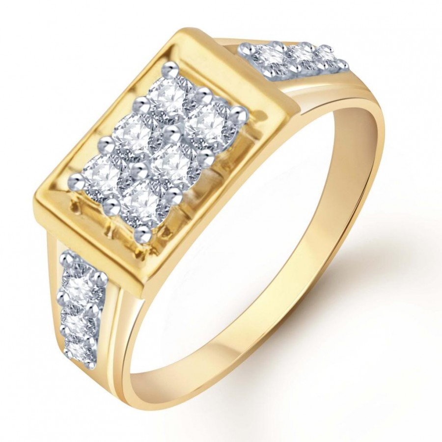 Buy Pissara Gold and Rhodium Plated CZ Ring for Men(103GRK510) Online