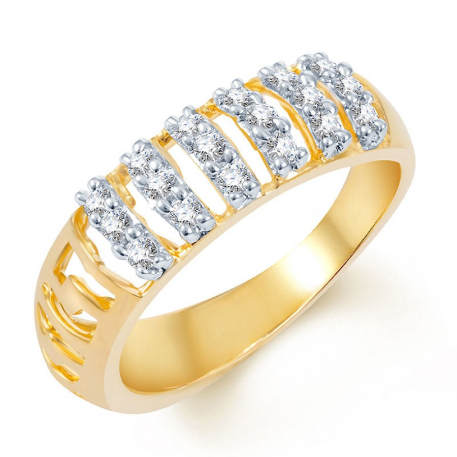 Buy Pissara Enchanting Gold and Rhodium Plated CZ Ring Online