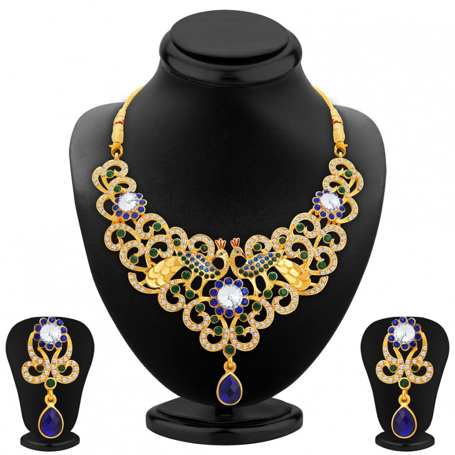 Buy Sukkhi Exquisite Gold Plated AD Necklace Set For Women Online