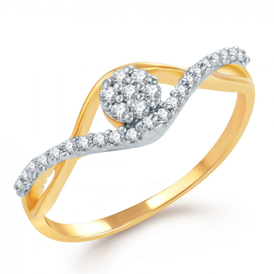 Buy Pissara Youthful Gold and Rhodium Plated CZ Ring Online