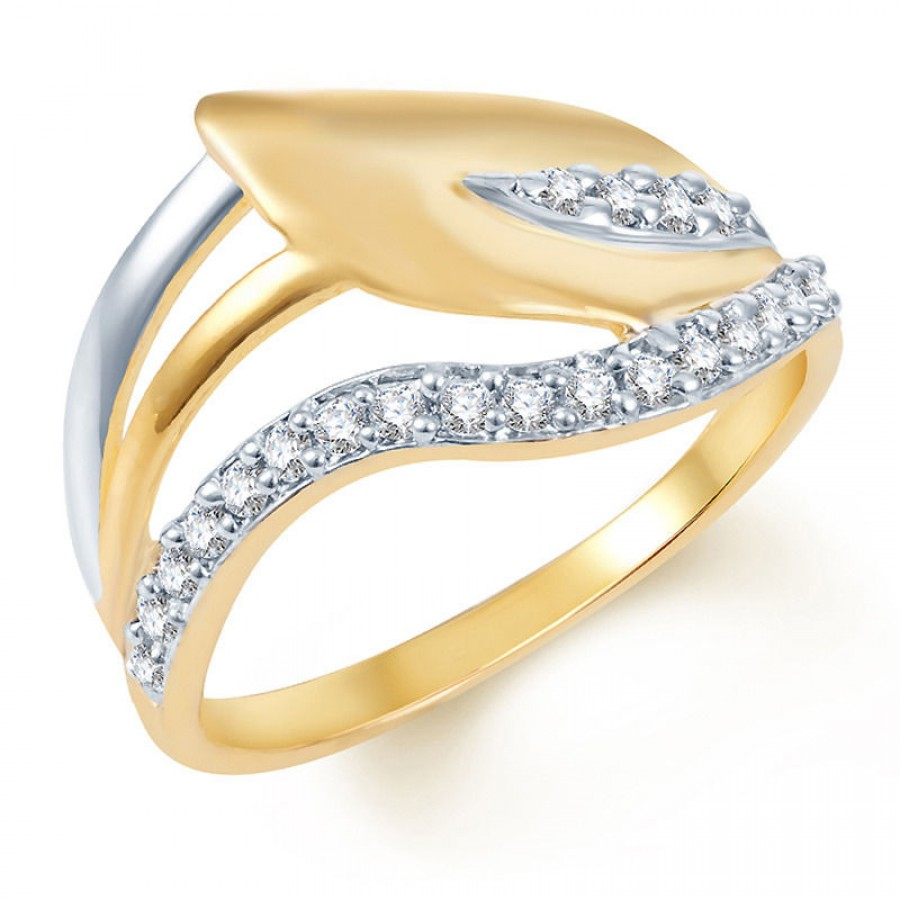 Buy Pissara Fancy Gold and Rhodium Plated CZ Ring Online