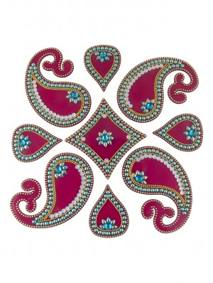 Buy Sukkhi Easy to Assemble Rangoli in Pink and Blue Online