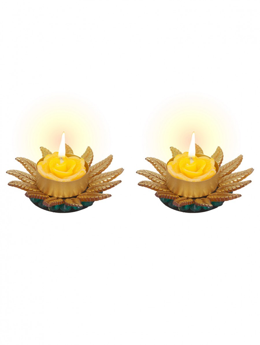 Buy Sukkhi Best Selling Sunflower Yellow Diya Candle Online