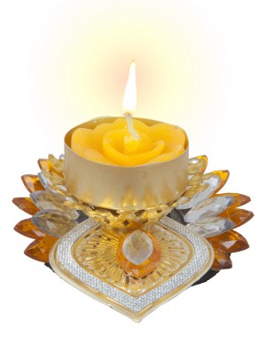 Buy Sukkhi Best selling Diyaa Candle in yellow Online