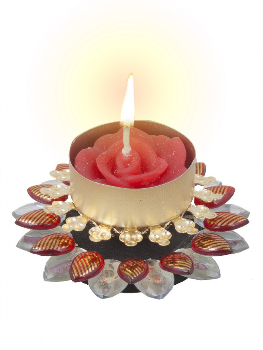 Sukkhi Best Selling Diya Candle In Vibrant Red Best Price