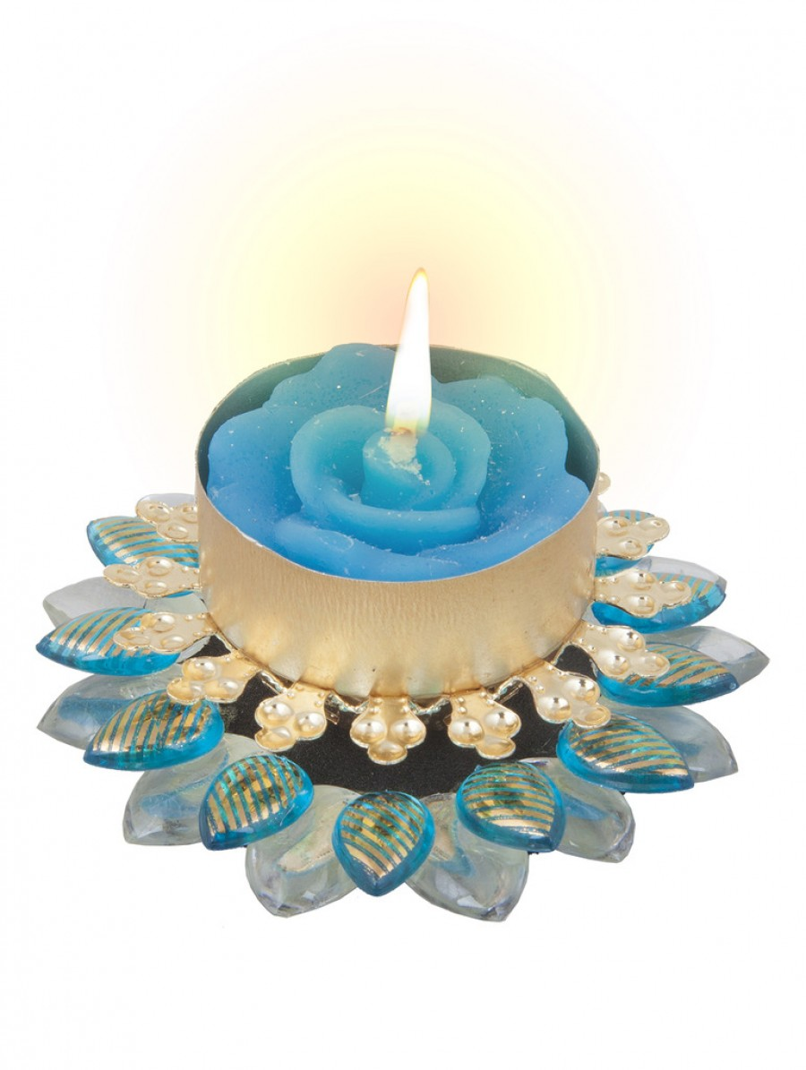 Buy Sukkhi Exclusive Diya Candle in Blue Online