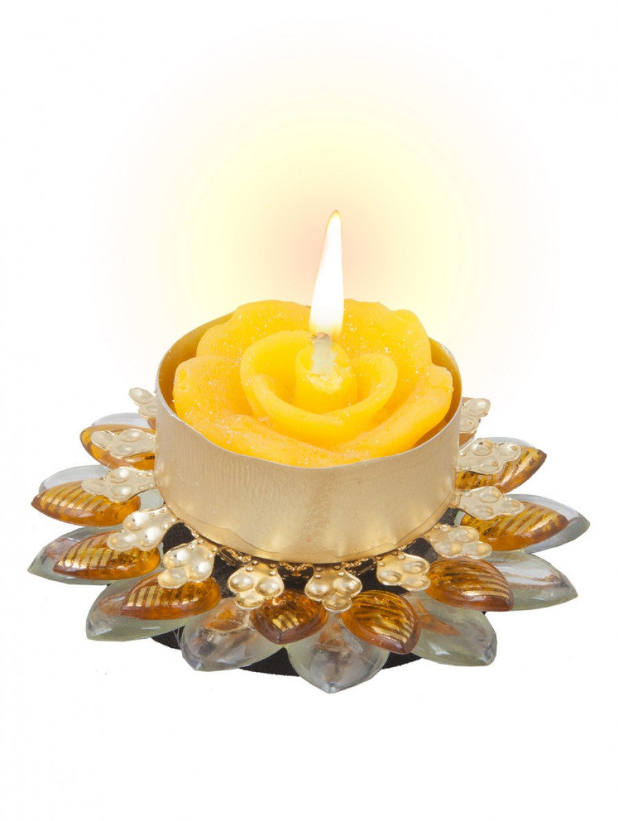 Buy Sukkhi Best-Selling Diya Candle in Bright Yellow Online