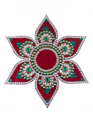 Buy Sukkhi Must-Have Traditional Red Rangoli Online
