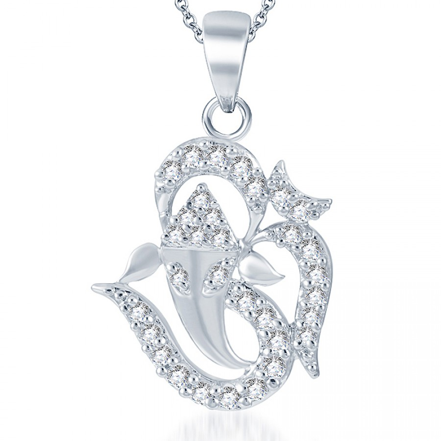Buy Pissara Artistically Crafted Rodium plated CZ God Pendant Online