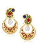 Sukkhi Angelic Gold Plated Australian Diamond Earrings