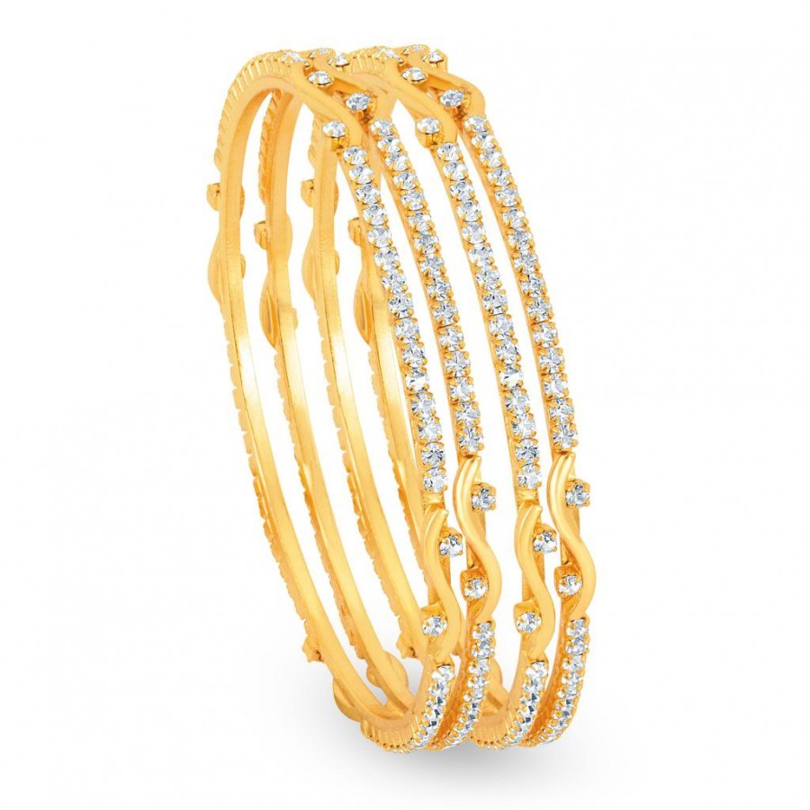 Buy Sukkhi Gold Plated AD Stone bangles - 1125VB900 Online