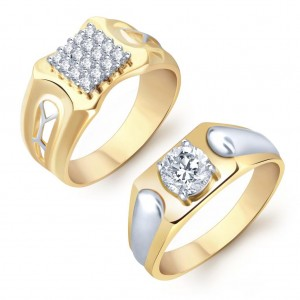 Buy Pissara Amazing 2 Piece Ring Combo for Men Online