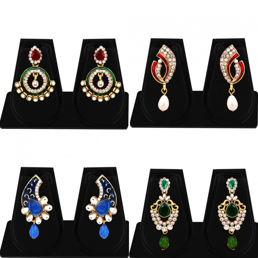 Buy Sukkhi Exquisite Gold Plated AD Combo Earring For Women Online
