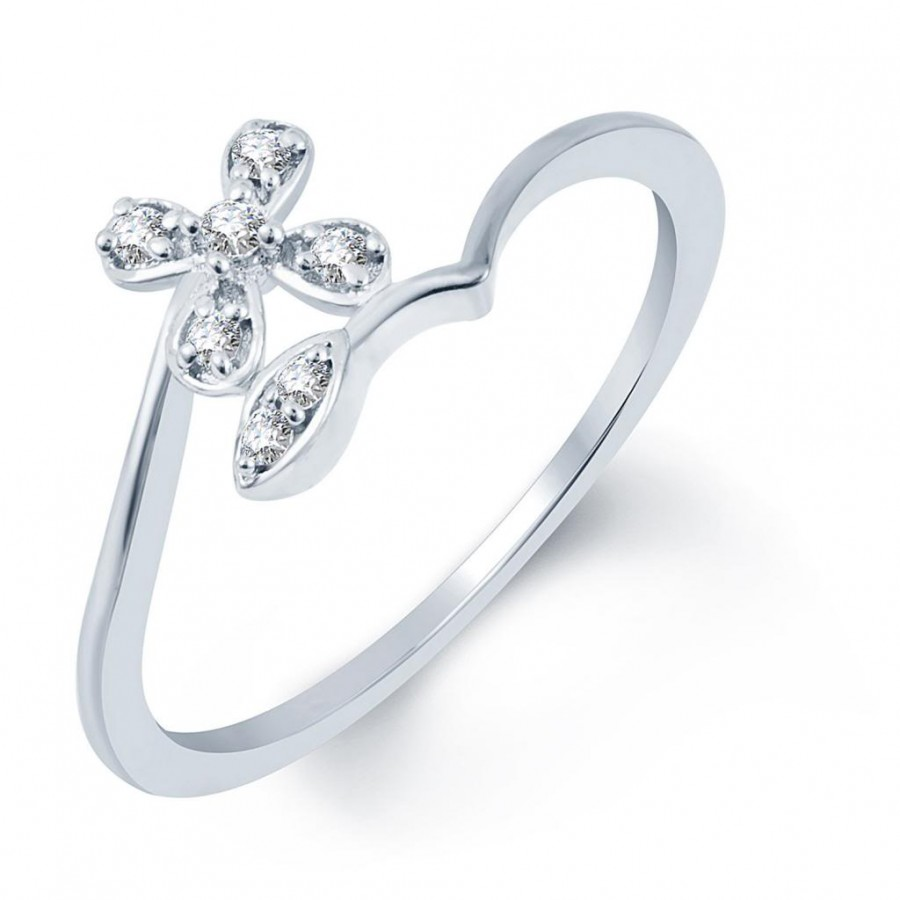 Buy Pissara Royal Rhodium Plated CZ Ring Online