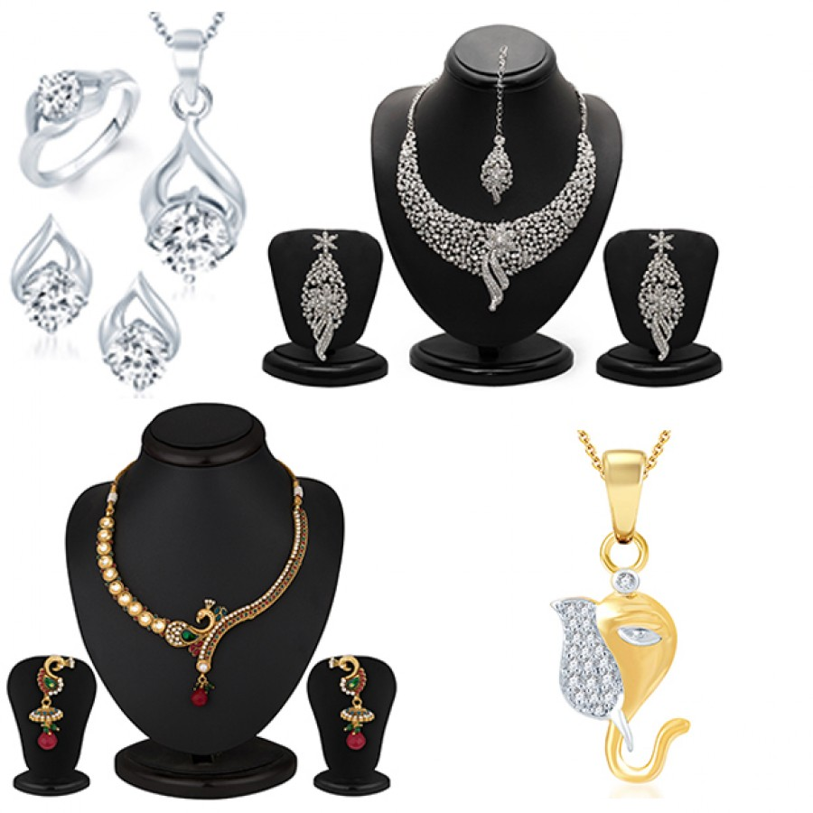 Buy Pissara Incredible Gold and Rhodium Plated Combo Online