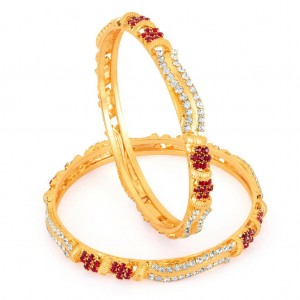 Buy Sukkhi Gold Plated Color Stone bangles - 1120VB1000 Online
