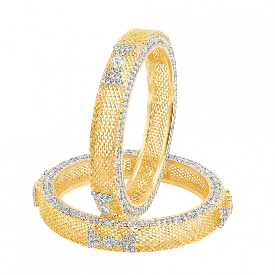 Buy Sukkhi Sublime Gold Plated AD Bangle For Women Online