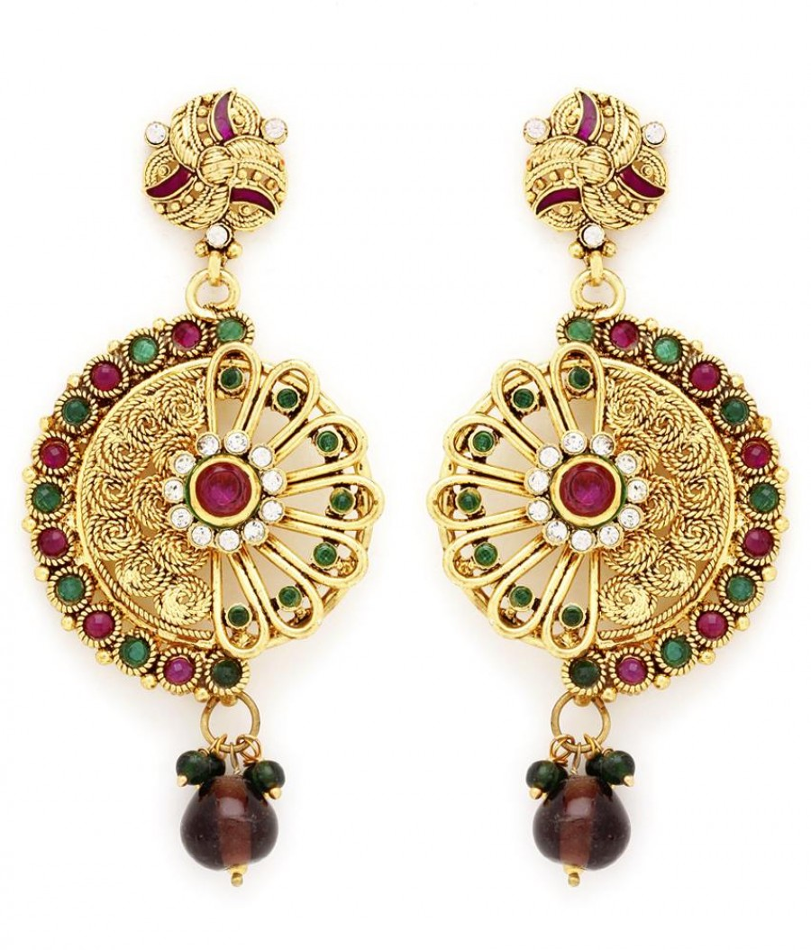 Buy Sukkhi Elegant Gold Plated AD Earring For Women Online