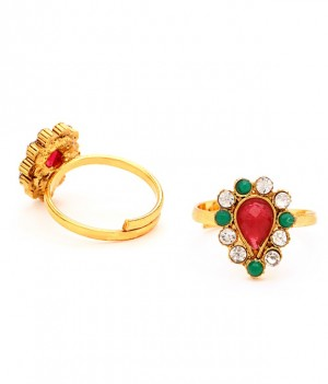 Buy Sukkhi Glorius Gold Plated Australian Diamond Stone Studded Toering Online