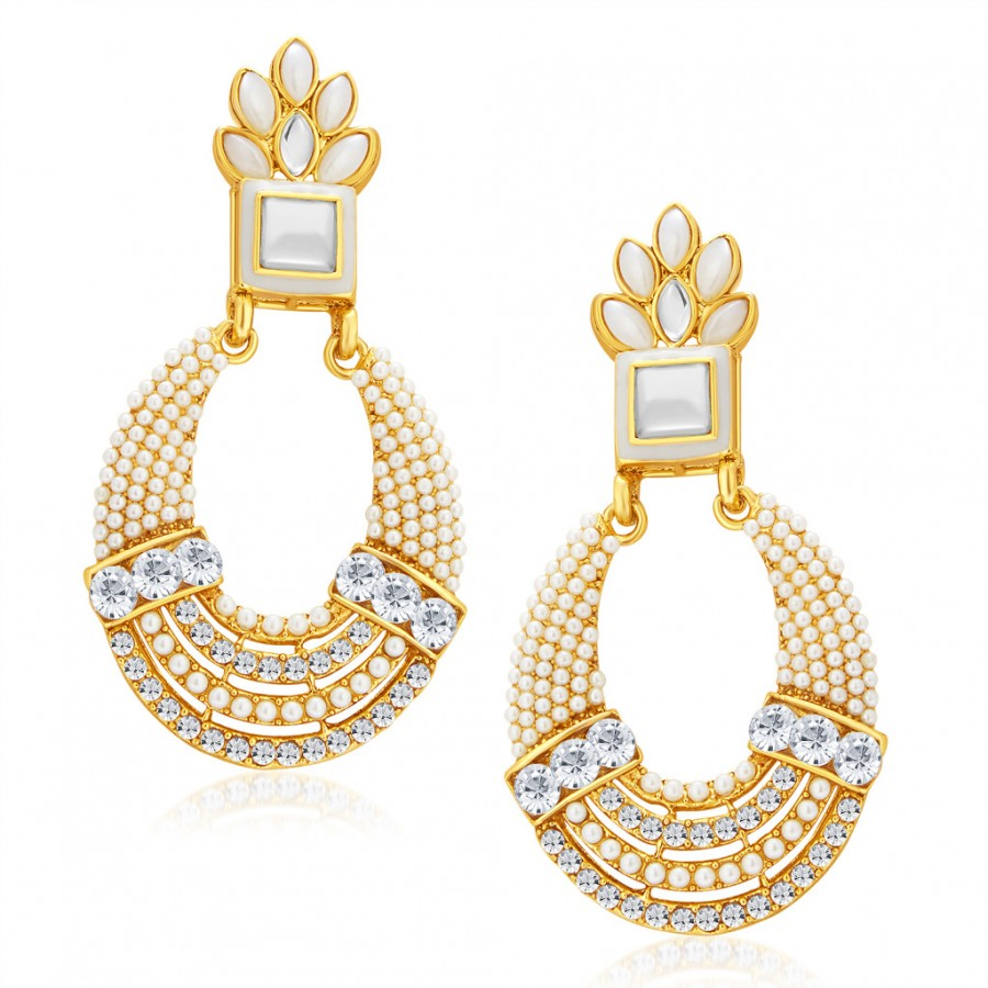 Buy Sukkhi Pretty Gold Plated Chandbali Earring For Women Online