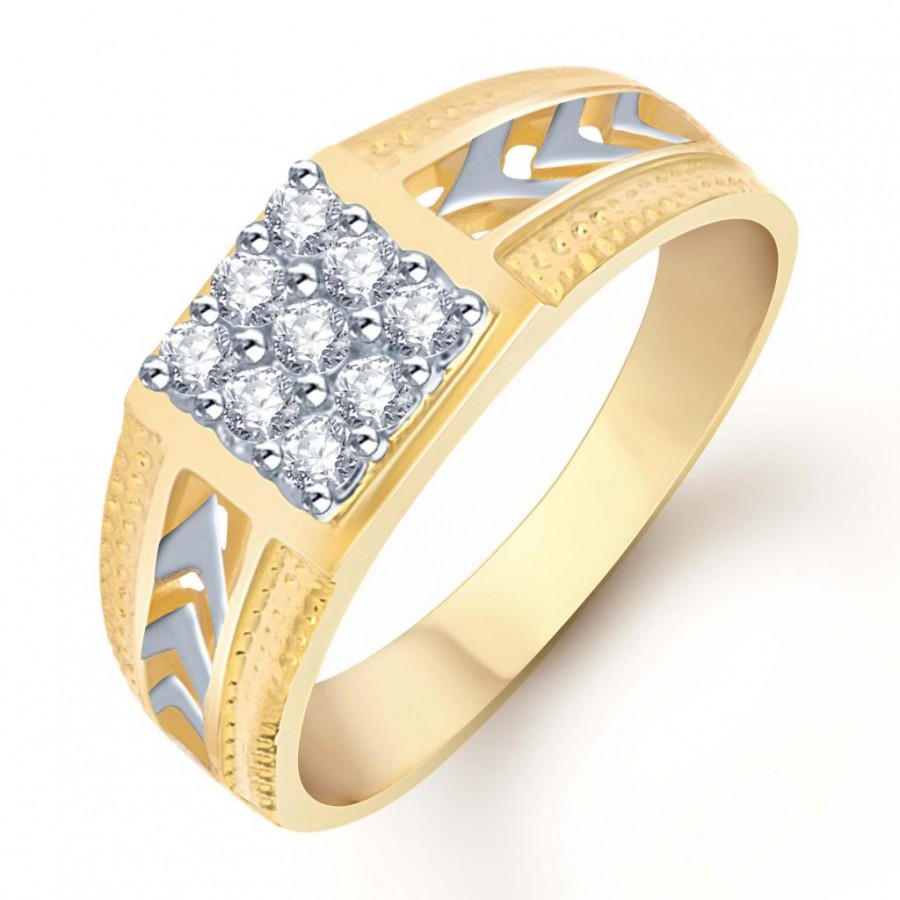 Buy Pissara Gold and Rhodium Plated CZ Ring for Men(106GRK450) Online