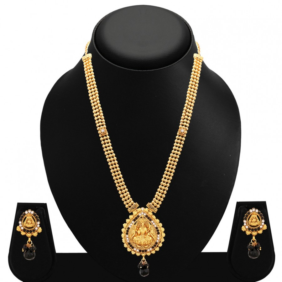 Buy Sukkhi Ravishing Gold Plated AD Temple Necklace Set For Women Online