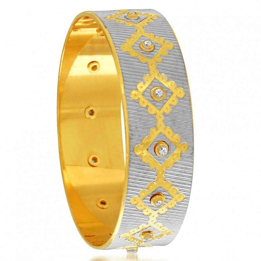 Buy Sukkhi Enchanting Gold and Rhodium Plated Dancing Kada for Women Online