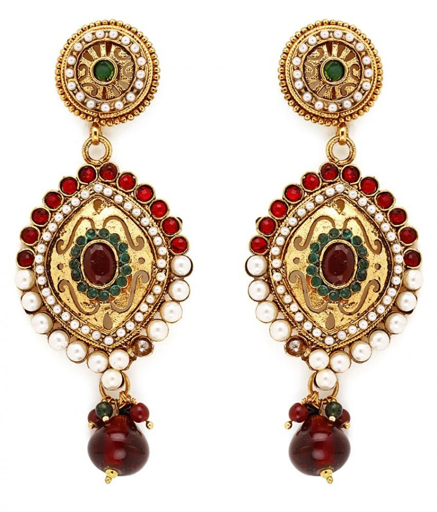 Buy Sukkhi Magnificent Gold Plated Pearl Earring For Women Online