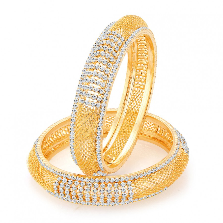 Buy Sukkhi Modish Gold Plated AD Bangles For Women Online
