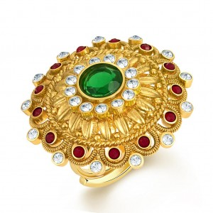Buy Sukkhi Sublime Two Tone CZ Studded Ring Online