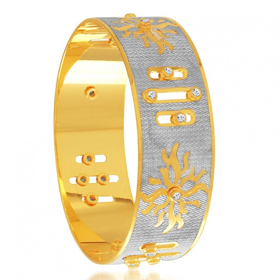 Buy Sukkhi Pretty Gold and Rhodium Plated Dancing Kada for Women Online