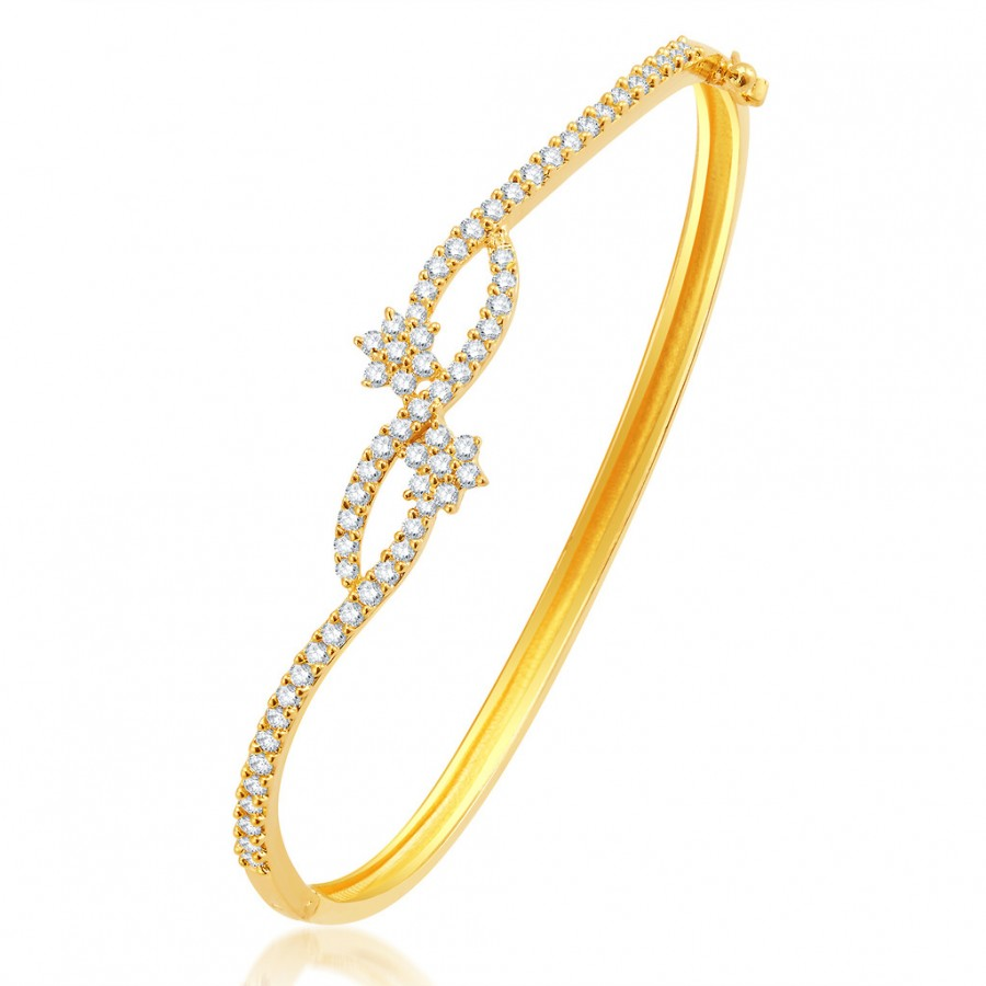 Buy Pissara Glorious Gold Plated CZ Kada Online