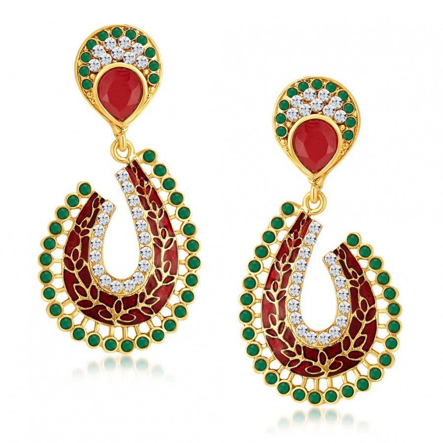Buy Sukkhi Fascinating Gold Plated Australian Diamond Earrings Online