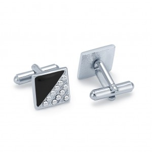 Buy Sukkhi Blossomy Rhodium Plated AD Cufflink Online