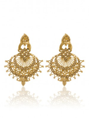 Buy Sukkhi Attractive Gold Plated AD Earring For Women Online