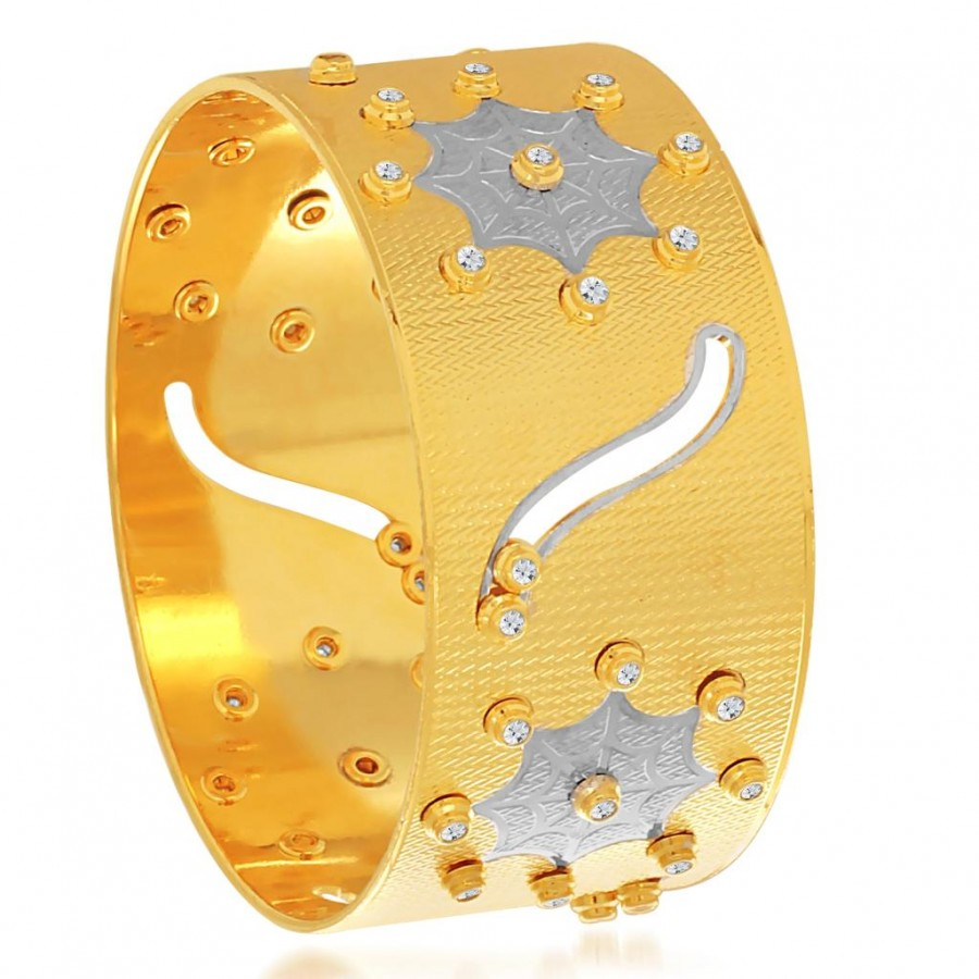 Buy Sukkhi Youthful Gold and Rhodium Plated Dancing Kada for Women Online