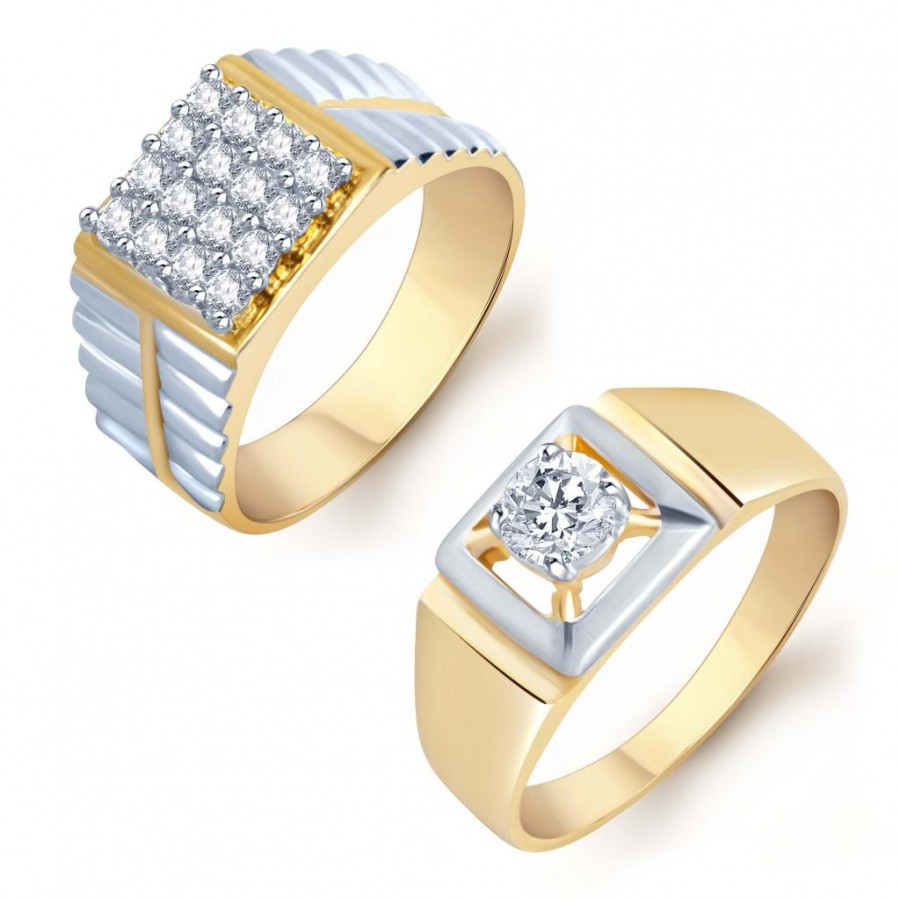 Buy Pissara Sparkling 2 Piece Ring Combo for Men Online