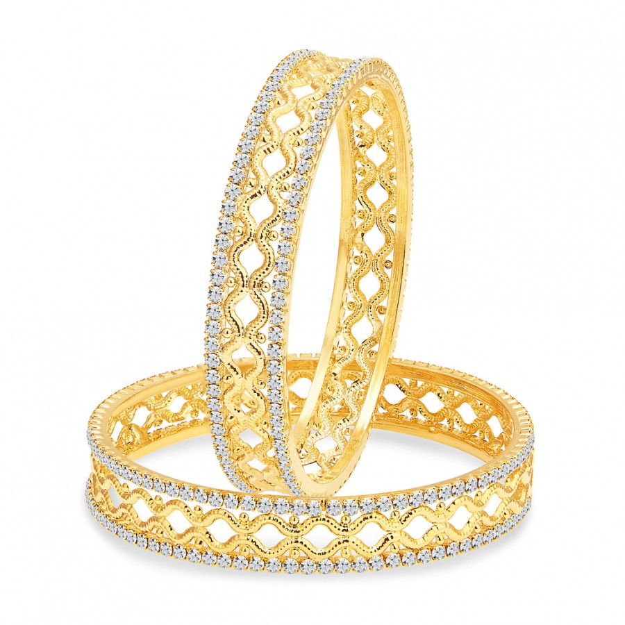 Buy Sukkhi Excellent Gold Plated AD Bangle For Women Online