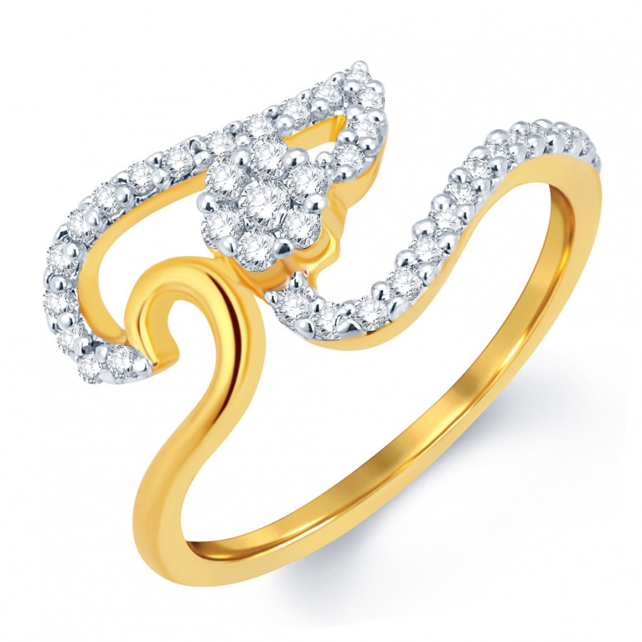 Buy Pissara Angelic Gold and Rhodium Plated CZ Ring Online