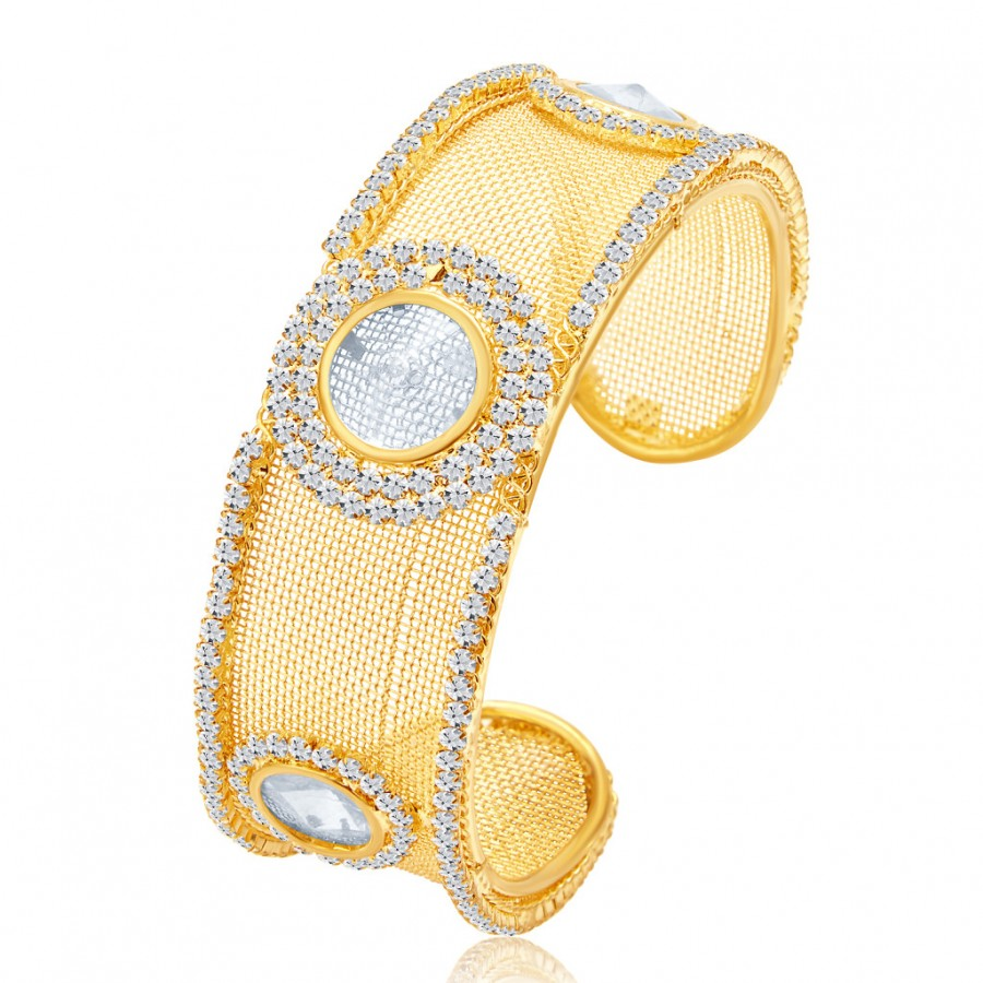 Buy Sukkhi Charming Gold Plated AD Kada For Women Online
