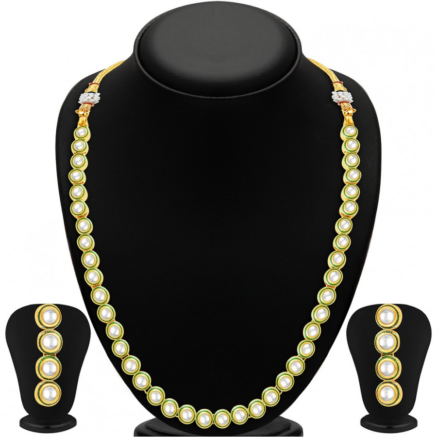 Buy Sukkhi Angelic Single String Gold Plated Kundan Necklace Set Online