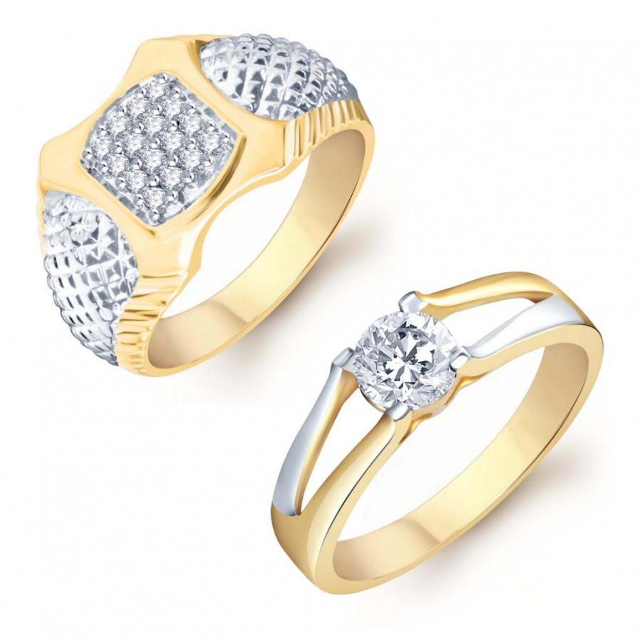 Buy Pissara Gorgeous 2 Piece Ring Combo for Men Online