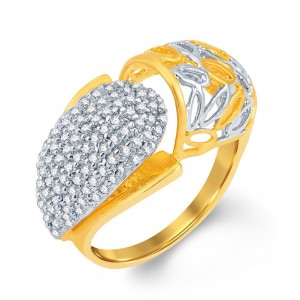 Buy Pissara Fancy Gold and Rhodium Plated Cubic Zirconia Ring Online