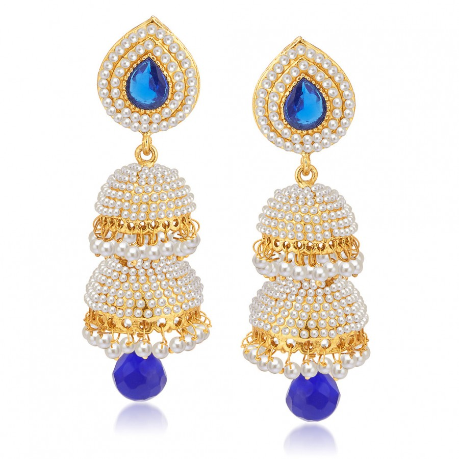 Buy Sukkhi Excellent Gold Plated Pearl Jhumki For Women Online