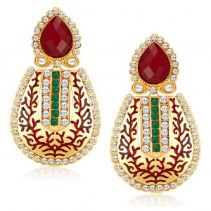 Buy Sukkhi Appealing Gold Plated Australian Diamond Earrings Online