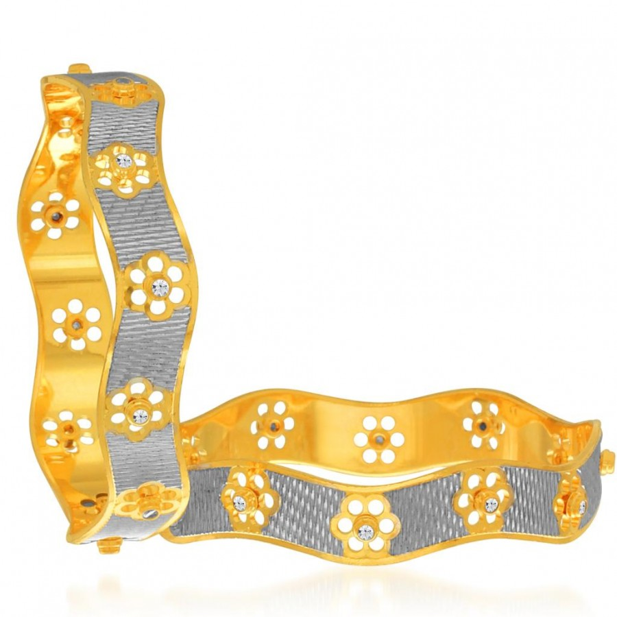 Buy Sukkhi Ethnic Gold and Rhodium Plated Dancing Bangles for Women Online