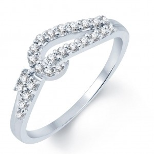 Buy Pissara Splendid Rhodium Plated CZ Ring Online